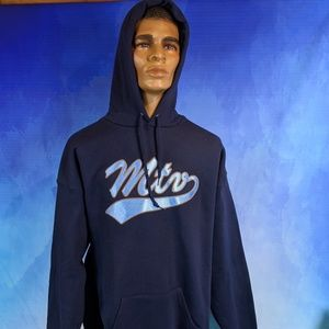 Vtg MTV Premium original blue Sweatshirt hoodie XL